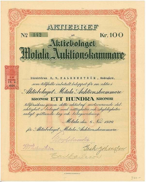 Motala Auktionskammare, AB