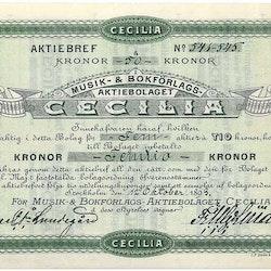 Musik-& Bokförlags AB Cecilia, 1893