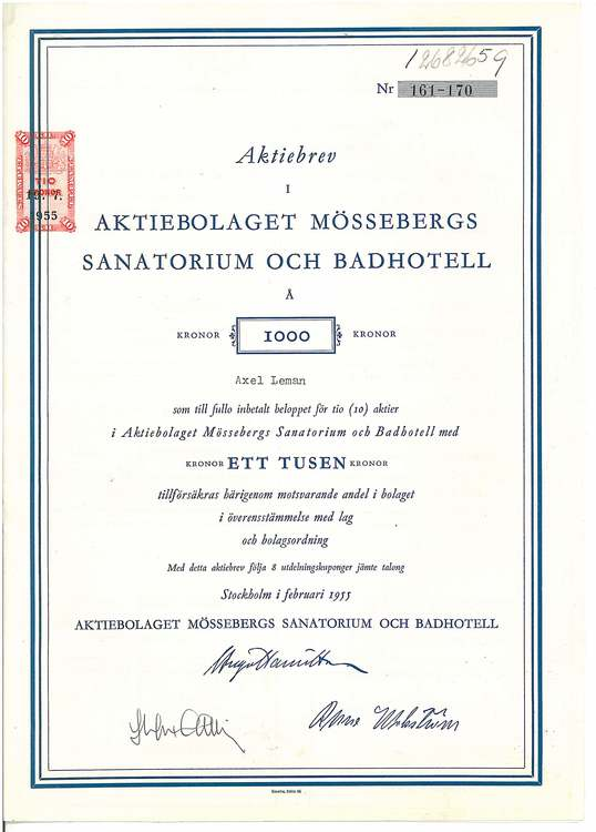 Mössebergs Sanatorium och Badhotell, AB