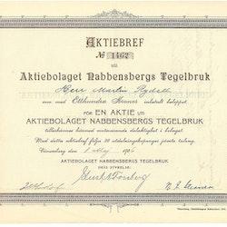Nabbensbergs Tegelbruk, AB