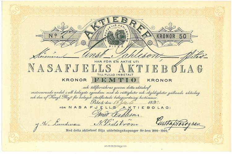 Nasafjells AB, 1890