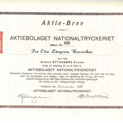 Nationaltryckeriet, AB