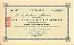 Neutrala-Export, AB
