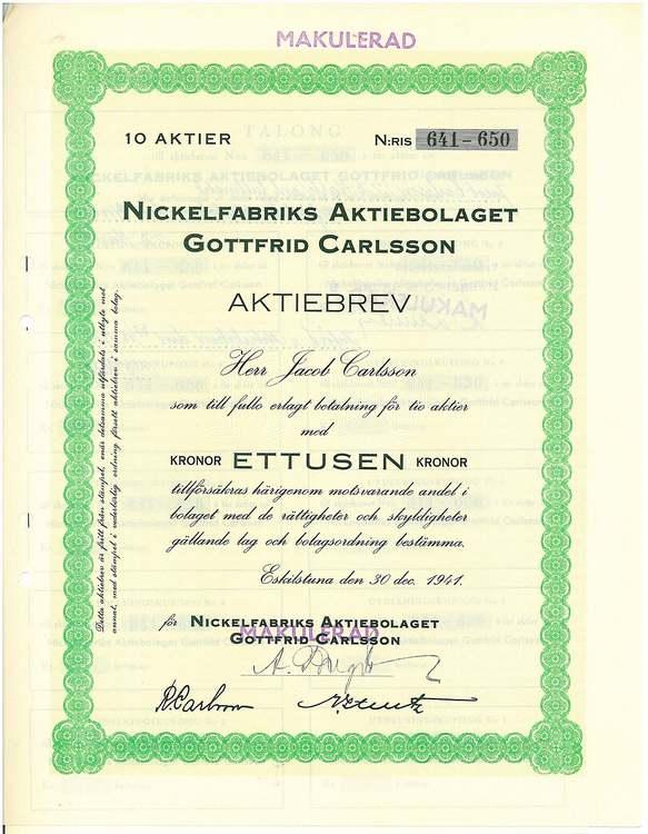 Nickelfabriks AB Gottfrid Carlsson