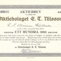 Nilsson, AB E.T.