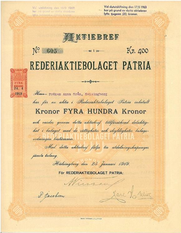 Rederi AB Patria
