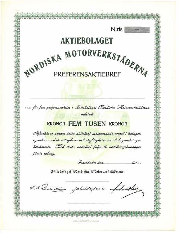 Nordiska Motorverkstäderna, AB