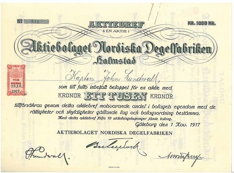 Nordiska Degelfabriken, AB
