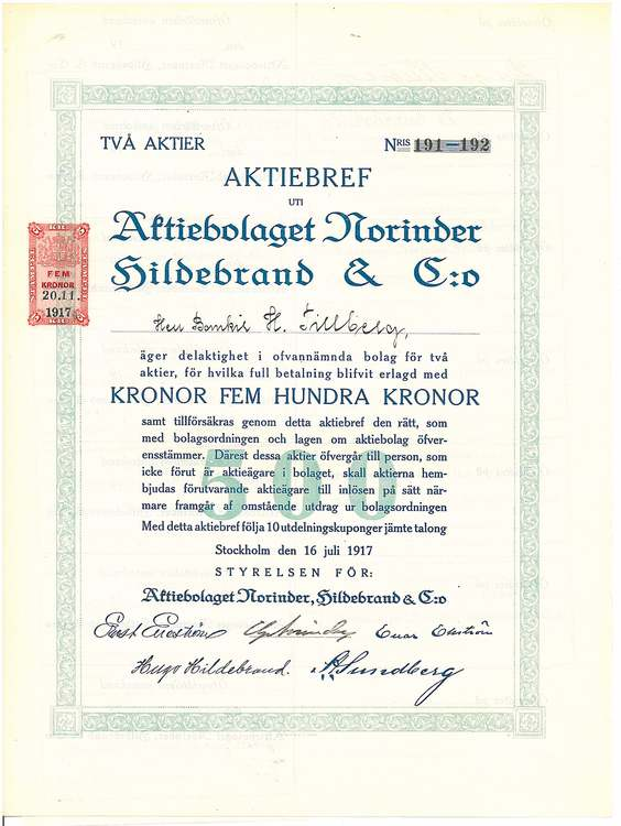 Norinder Hildebrand & C:o