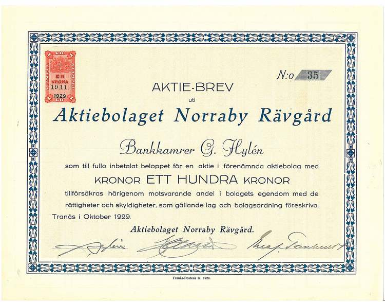Norraby Rävgård, AB