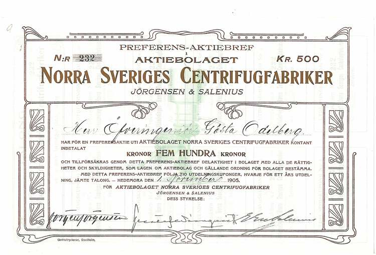 Norra Sveriges Centrifugfabriker, AB