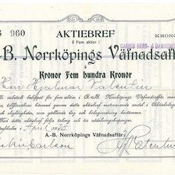 Norrköpings Väfnadsaffär, AB