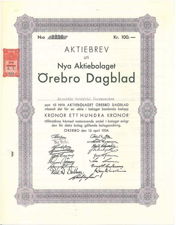 Nya AB Örebro Dagblad