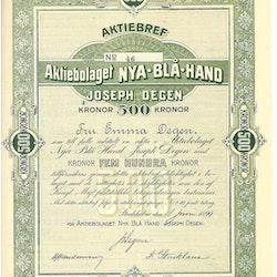 Nya Blå Hand Joseph Degen, AB