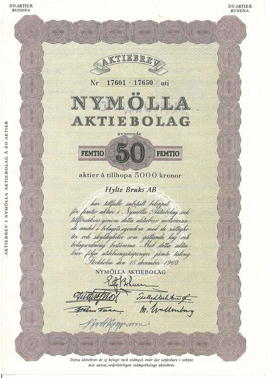 Nymölla AB, 5000 kr