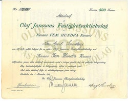 Olof Janssons Fastighets AB