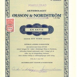 Olsson & Nordström, AB