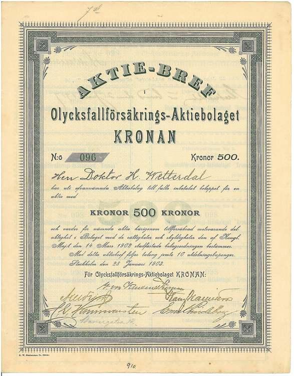 Olycksfalls försäkrings  AB Kronan