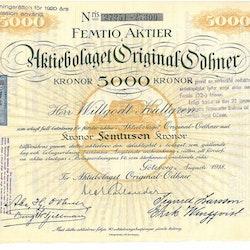 Orginal-Odhner, AB, 5000 kr