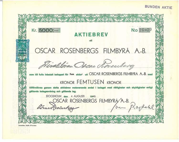 Oscar Rosenbergs Filmbyrå AB