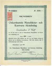 Oskarshamns Manufaktur och Kortvaru AB