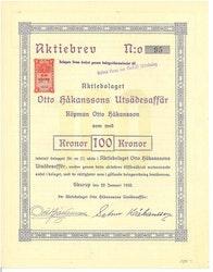 Otto Håkanssons Utsädesaffär, AB