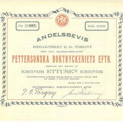 Petterssonska Boktryckeriet Eftr.