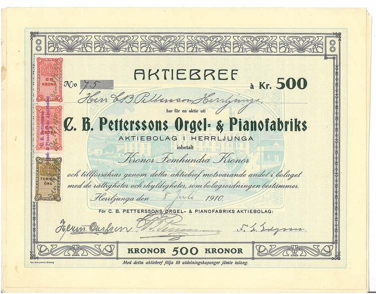 Petterssons Orgel-& Pianofabriks, AB