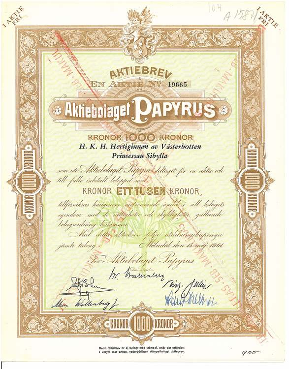 Papyrus, AB
