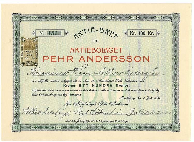 Pehr Andersson, AB
