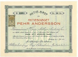 Pehr Andersson, AB