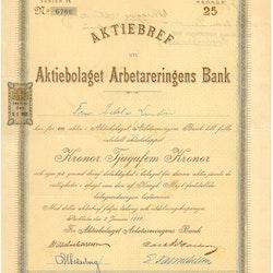 Arbetareringens Bank, AB