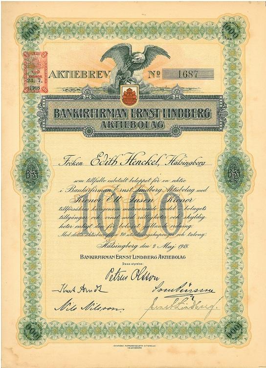 Bankirfirman Ernst Lindberg