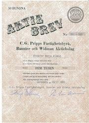 Pripps fastig.byrå, Bannier o Widman AB, C.G