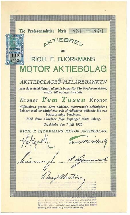 Rich. F. Björkmans Motor AB