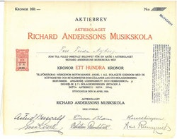 Richard Anderssons Musikskola AB