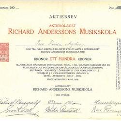 Richard Anderssons Musikskola AB