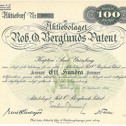 Rob.O.Berglunds Patent, AB