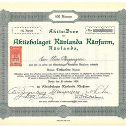 Rävlanda Rävfarm, AB