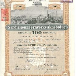 Sandvikens Jernverks AB, 1937