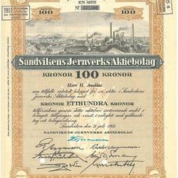 Sandvikens Jernverks AB, 1951