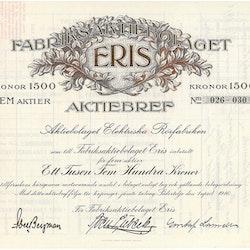 Fabriks AB Eris, 1500 kr