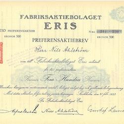 Fabriks AB Eris, 500 kr