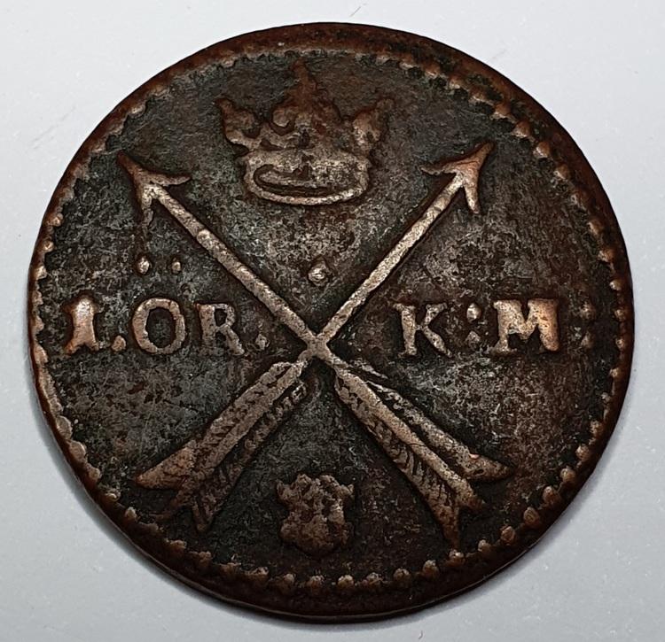 Karl XI 1 Öre KM 1661