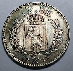 1856 Oskar I, 12 Skilling