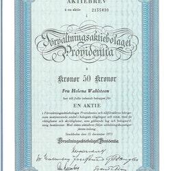 Förvaltnings AB Providentia, 50 kr