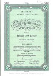 Förvaltnings AB Providentia, 500 kr