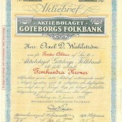 Göteborgs Folkbank, AB, 500 kr