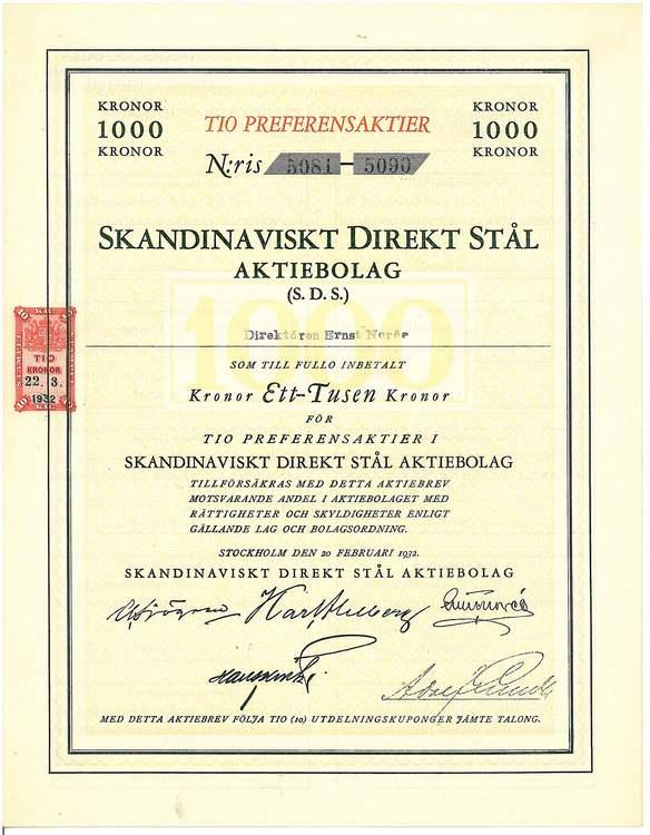 Skandinaviskt Direkt Stål AB (SDS