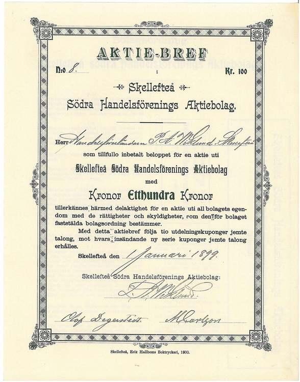 Skellefteå södra Handelsförening, AB